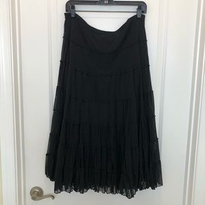 Maxi Studio Skirt Black Layered Size L